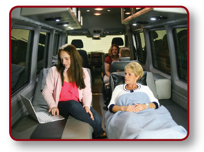 Comfortable long distance medical transport