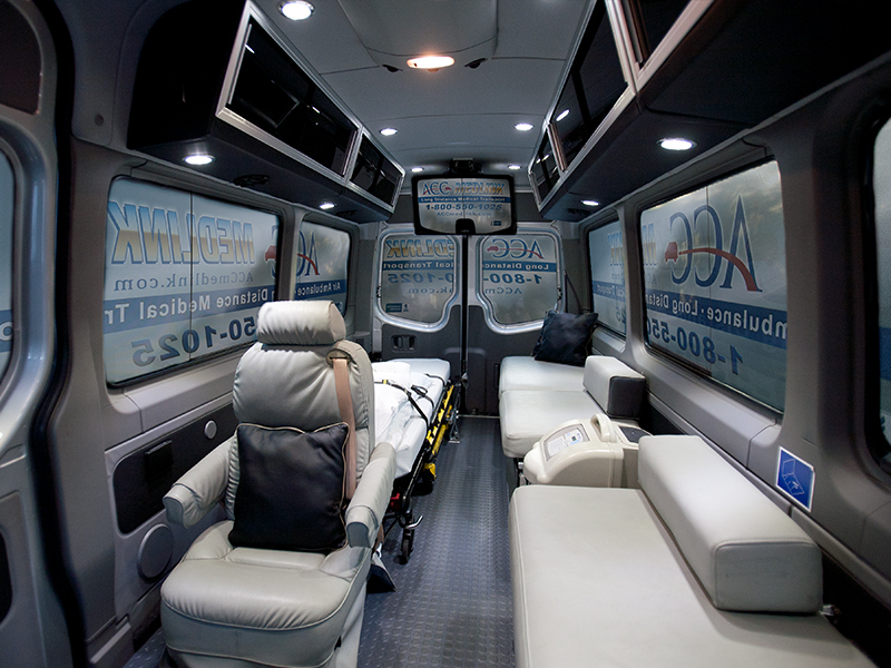 Inside Front View of an ACC Medlink Medical Transporter