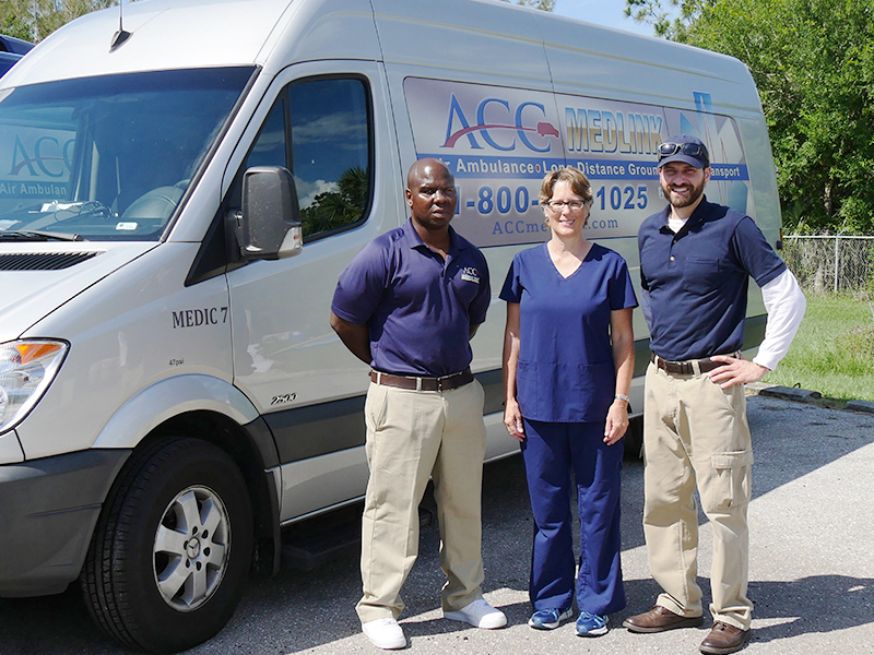 ACC MedLink's Long Distance Ambulance Transport Services Team